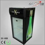 Petit réfrigérateur de porte en verre commerciale (SC80B)