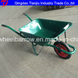 carrinho de mão de roda plástico Wb7800 do Wheelbarrow 100L com roda do ar