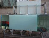 vidrio endurecido ultra claro 12m m adicional de 8m m 10m m /Tempered con los orificios y los surcos