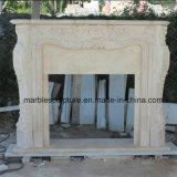 Bordi di marmo beige della mensola del camino del camino (SY-MF002)