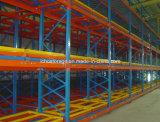 Empurre cremalheira Voltar Racking de armazenamento Segurança Warehouse
