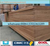 madera contrachapada de 28m m Keruing /Gurjan/Apitong para el entarimado del envase