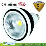 B22 E26 Edison 옥수수 속 알루미늄 램프 15W LED PAR38 빛