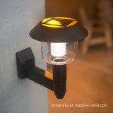 Luces accionadas solares del montaje LED de la pared del jardín de la cerca al aire libre de la yarda