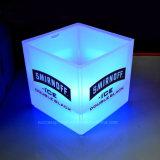 주문을 받아서 만들어진 로고를 가진 도매 3.5L 플라스틱 LED 얼음 양동이