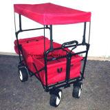 Zusammenklappbares Camping Cart Folding Wagon mit Beach Wheel und Canopy