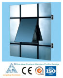Mur rideau en verre de profil en aluminium en aluminium d'extrusion de constructeur de qualité