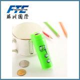Batería de moneda guarra de la venta de la dimensión de una variable caliente verde de la taza con Palstic