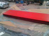 Hojas del material para techos del cinc revestido acanalado del color/hoja de acero del material para techos de Ibr