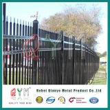 Frontière de sécurité de piquet en acier soudée/panneau ornemental de frontière de sécurité de /Garrison de frontière de sécurité de fer