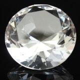 Presse-papiers bon marché de petite taille de diamant de verre cristal pour le métier