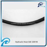 Tuyau hydraulique en caoutchouc d'aspiration d'hélix du fil d'acier R4 de SAE 100