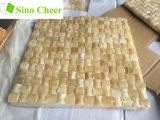 Плитки мозаики мрамора Onyx меда кубика 3D желтые