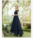 Laço do vestido de noite que perla o vestido formal feito sob encomenda do vestido elegante do partido