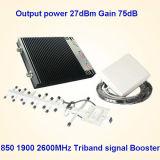 Tri ripetitore 1900 del segnale della fascia CDMA 850 PCS Lte 2600 St-Cp4g27