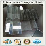 Lamiera sottile ondulata del policarbonato trasparente
