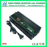 CC di 300W 12V all'invertitore di energia solare di CA 110V/220V con il caricatore (QW-M300UPS)
