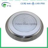 高品質316 Ss赤い青緑の2year保証が付いている樹脂によって満たされるLEDのプールライト