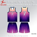 Red Color Customized Design Full Sublimation Basketball Set Jerseys