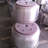 A padaria faz à máquina o misturador da farinha da espiral da velocidade dobro