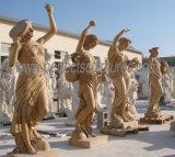 Cinzelando a estátua de pedra de mármore da escultura para a decoração do jardim (SY-X1317)