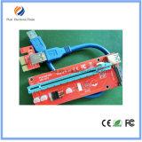 Ver007s PCI-E는 60cm를 가진 16X Molex USB 라이저 증량제 접합기 카드에 1X를 표현한다