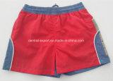 Swimwear solido di Short della scheda dei bambini del poliestere piano della vita di Oeko-Tex