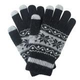 人の方法冬のウールによって編まれるタッチ画面の魔法の手袋(YKY5453)