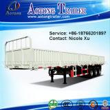 La parete laterale apre 3 il camion di rimorchio speciale a base piatta del veicolo degli assi 45t semi (LAT9400E)