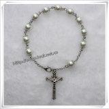 Vetro Rosario cattolica rosario perline di legno rosario rosario braccialetto (IO-CB054)