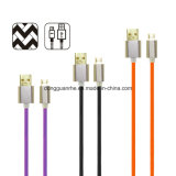 Braided de nylon Aluminum Micro 5-Pin Charging Cable