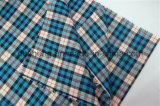 Tela 100% tingida da camisa do projeto da verificação do fio de algodão