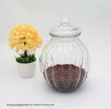 Kürbis-Glasnahrungsmittelspeicher-Glas mit luftdichter Glaskappe