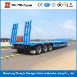 Größe 13000*3000*1650 Low Bed Trailers mit Hydraulic Ladder und Gooseneck