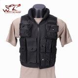 A polícia tática do assalto Wargame do combate militar de Airsoft Waterproof a veste da segurança