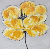 Grande peinture à l'huile fabriquée à la main se développante de fleur de qualité