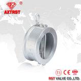 Tipo válvula da bolacha do aço inoxidável de verificação da mola do disco
