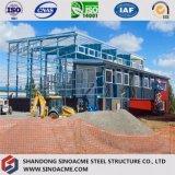 Atelier de structure métallique de poids léger avec la pente simple