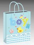 Bolso al por mayor del regalo del papel azul para la ducha de bebé