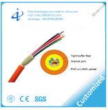 Cavo ottico dell'interno della fibra del tubo del PVC di GJFJV con la memoria 4 multimoda