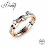 Het Kristal van de Juwelen van het lot van Ring Swarovski Plakkend
