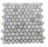 Золото отполированное Calacatta шестиугольника/хонинговало мраморный каменную мозаику