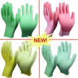 Nmsafety Colorful PU revestido luva Ladies Jardinagem Mão