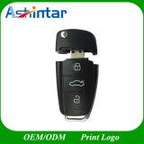 Movimentação plástica do flash do USB da forma da chave do carro da vara do USB USB3.0