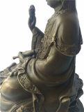 Escultura de bronce de Buda Avalokitesvara Lotus latón estatua Tpfx-B90