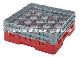 Vino Plástico Vidrio Basket Mold