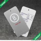Double étiquette latérale de coup des prix de papier d'imprimerie