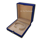 La maneta de lujo hizo el rectángulo de empaquetado del paño de la joyería plástica del regalo