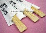Palillos de bambú gemelos de China y muestras libres con las fundas