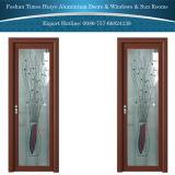 Aluminio con bisagras/puerta del marco/del cuarto de baño con la capa doble templada
